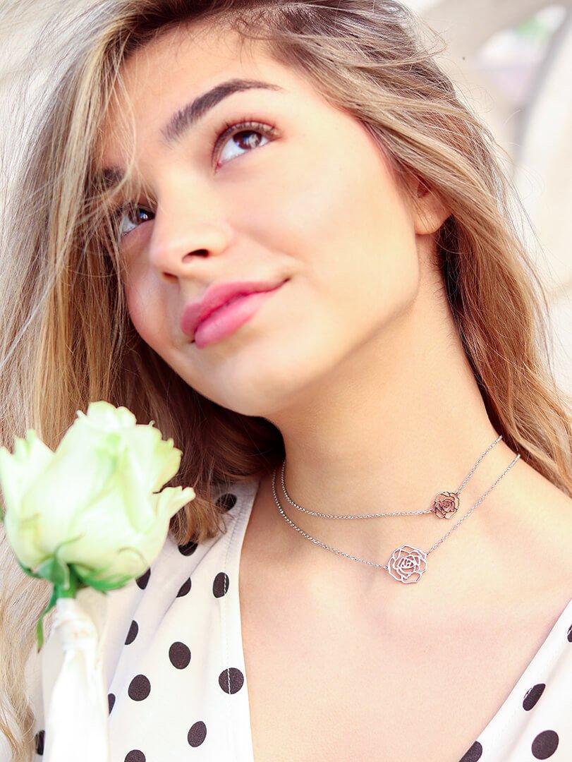 rose ogrlica
