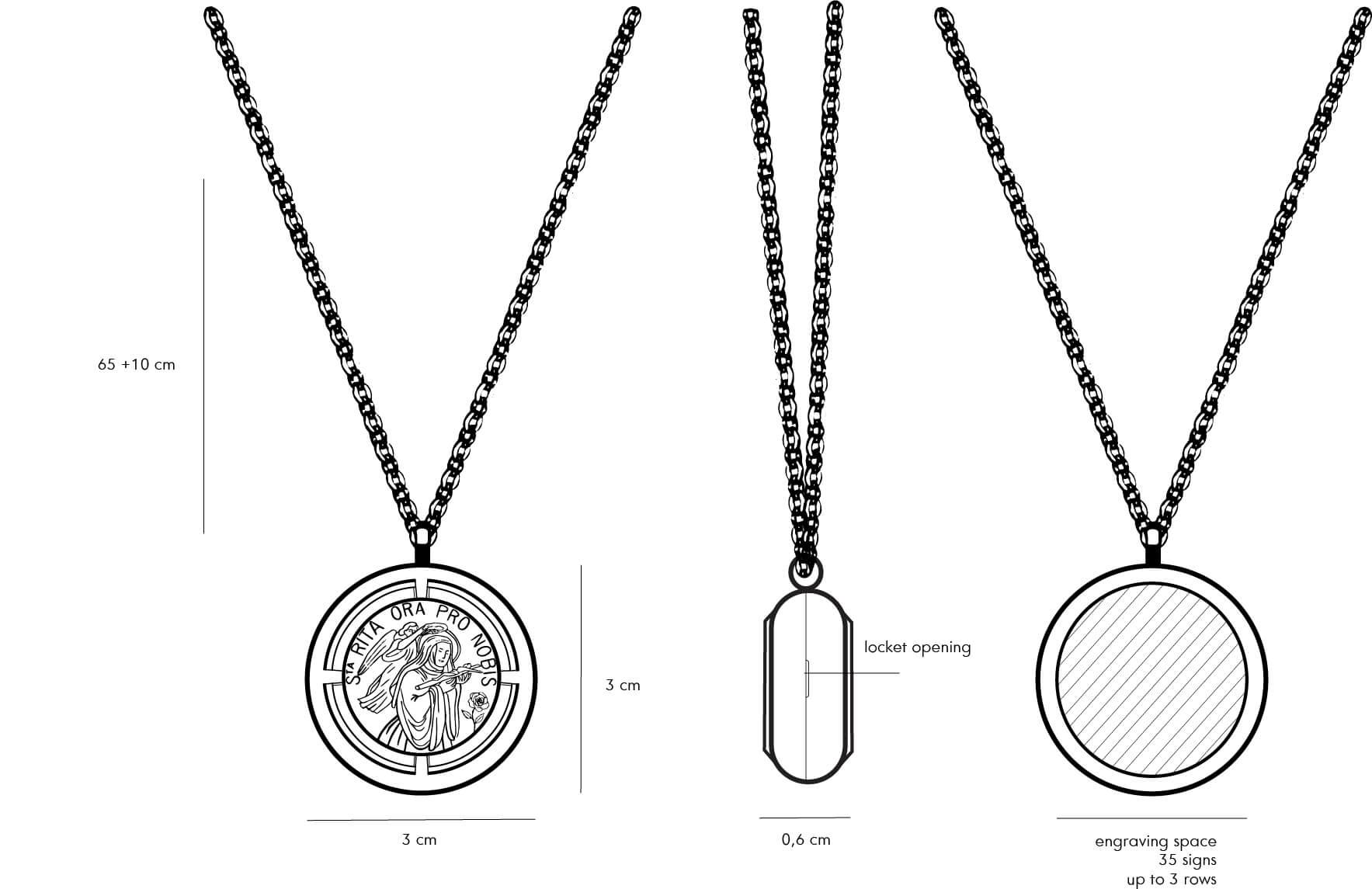 sveta rita medaljon